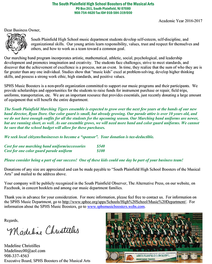 SPHS-Music-Uniform-Request-SPBA-May-2016